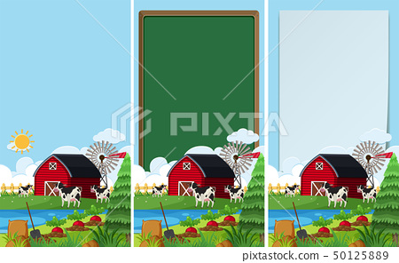 Background templates with farm scene 50125889