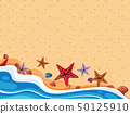 Background scene with starfish on the shore 50125910
