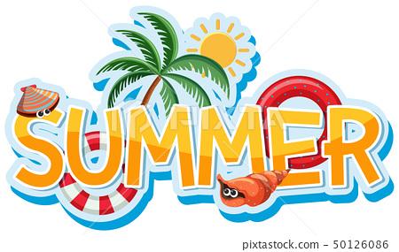 Font design for word summer 50126086