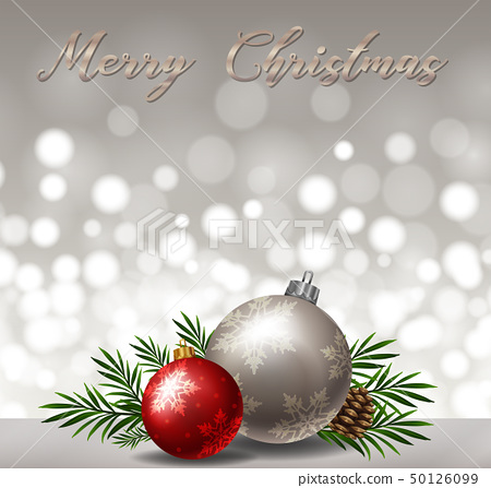 Background design with gray and red ornaments 50126099