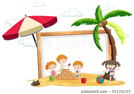 Summer beach holiday frame 50126255