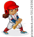 A female baseball player 50126306