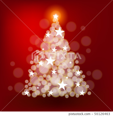 Christmas tree with bright stars 50126463