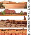Set of desert land 50126590