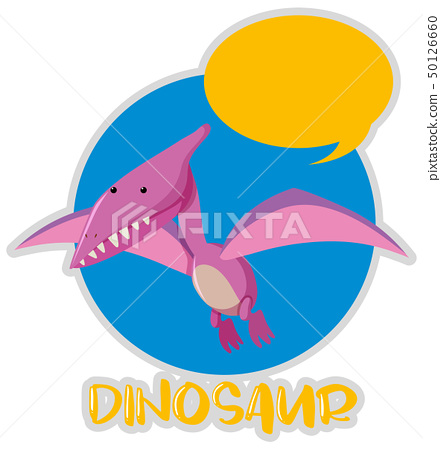 Dinosaur with wings flying 50126660