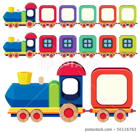 Wooden train in different colors 50126765