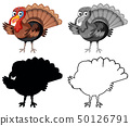 Set of turkey character 50126791