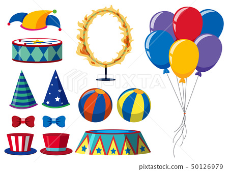 Circus elements on white background 50126979
