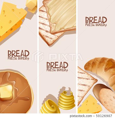 Bread fresh bakery background design 50126987