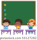 Board and children in classroom 50127282
