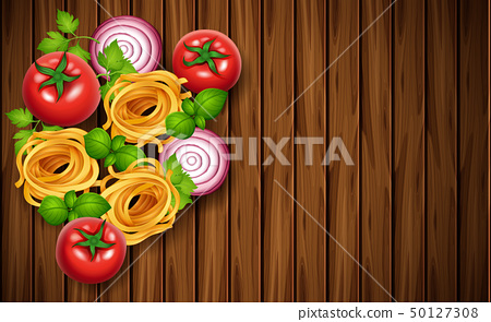 Background template with fresh vegetables and 50127308