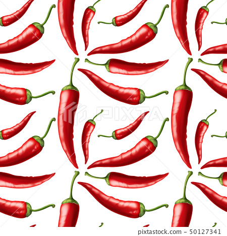 Seamless background with red chili 50127341