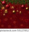 Background template with christmas ornaments 50127852