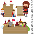 Paper template with king and queen 50127862