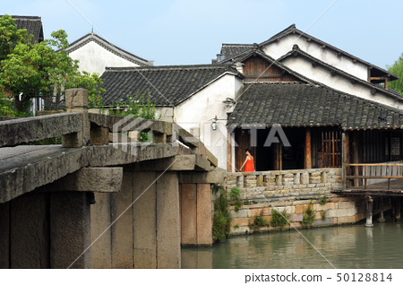 China ancient building in Wuzhen town 50128814