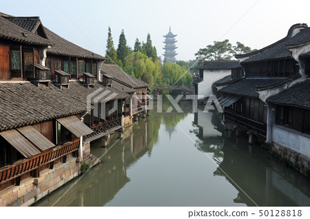 China traditional style building in Wuzhen town 50128818