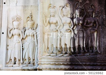 Cambodia - Angkor wat temple sculpture 50128982