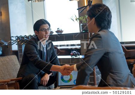 商人,商務談判,諮詢 50129101