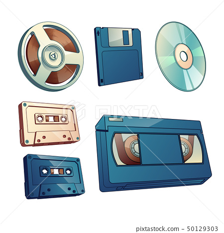 Information retro carriers cartoon vector set 50129303