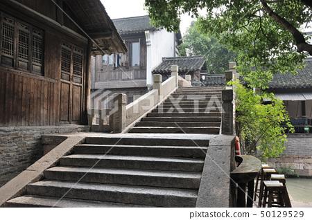 Chinese old stone bridge in Wuzhen village 50129529