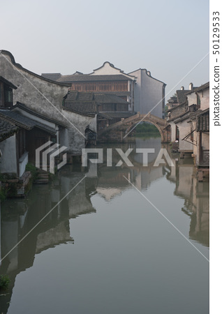 China ancient village building 50129533