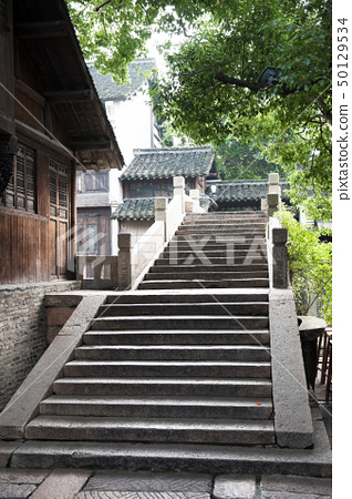 Chinese old stone bridge in Wuzhen village 50129534
