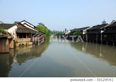 China ancient building in Wuzhen town 50129541