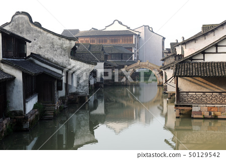 China ancient building in Wuzhen town 50129542