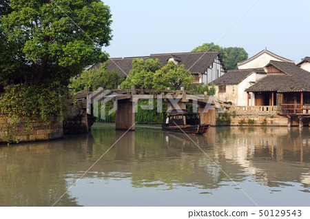 China ancient building in Wuzhen town 50129543