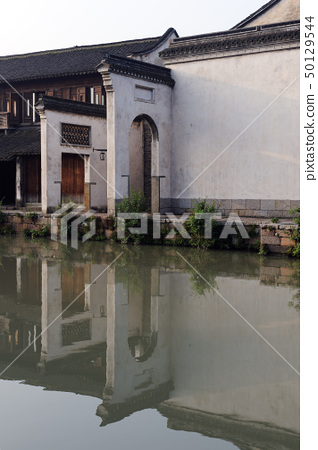 China ancient building in Wuzhen town 50129544