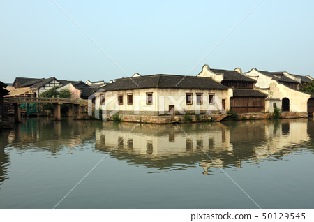 China ancient building in Wuzhen town 50129545