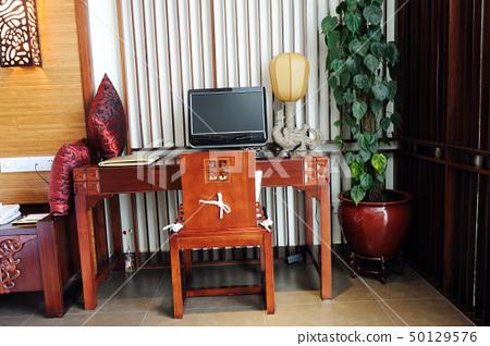 Computer on Desk 50129576