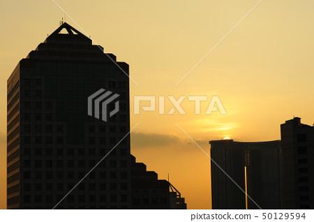 Urban sunset 50129594