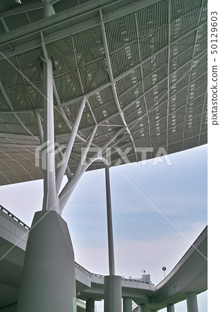 Modern railway station architecture 50129603