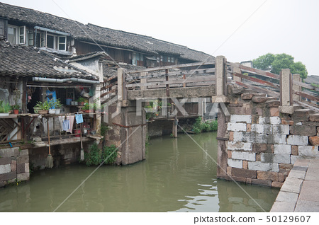 China ancient building in Wuzhen town 50129607