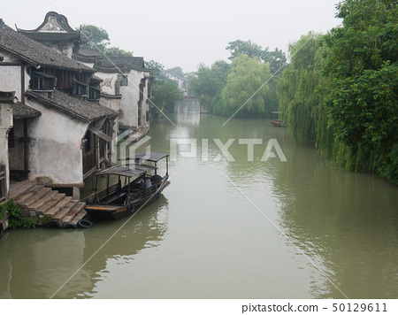 China ancient building in Wuzhen town 50129611