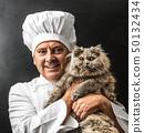 cook, man, cat 50132434