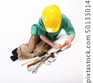 Young boy playing with tools for work 50133014