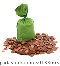 lot of money in white background 50133665