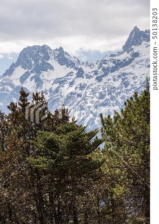 中國麗江玉龍雪山 中国観光スポット China Jade Dragon Snow Mountain 50138203