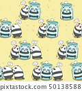 Seamless pandas are playing together. 50138588