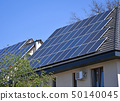 Solar panels on the roof of  a building 50140045