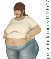 A woman who was fat enough to miss last year's shirt 50140647