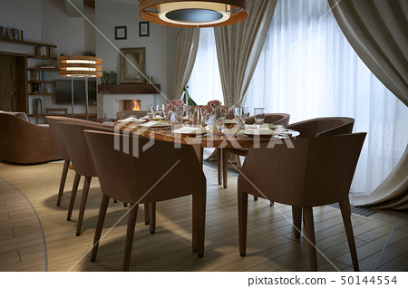 Dining room rustic style 50144554
