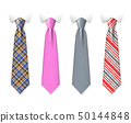 Neck ties vector templates with plaid texture design 50144848
