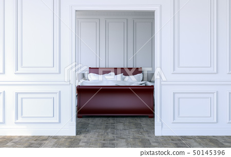 Luxury bedroom interior in modern classical design 50145396