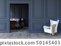Luxury bedroom interior in modern classical design 50145403
