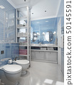 Bathroom classical style in blue tones 50145591