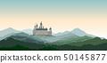 Castle Mountain Landscape Skyline travel backgroun 50145877