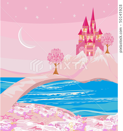 Landscape with fairytale castle in a magical land 50145928